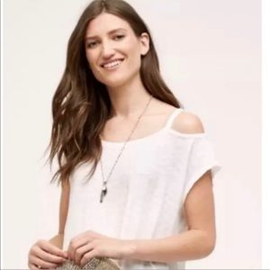 ANTHROPOLOGIE • Cold Shoulder White Tank Top NWT